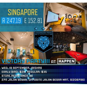 Victory Party at Happen - Wed, 19 September